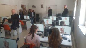 Scuola San Benedetto. Inaugurazione dell'aula informatica