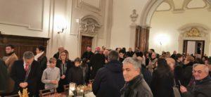 Abbazia di Montecassino, 31 dicembre 2019. Organizzazione e cura del brindisi per il <i>Te Deum</i>