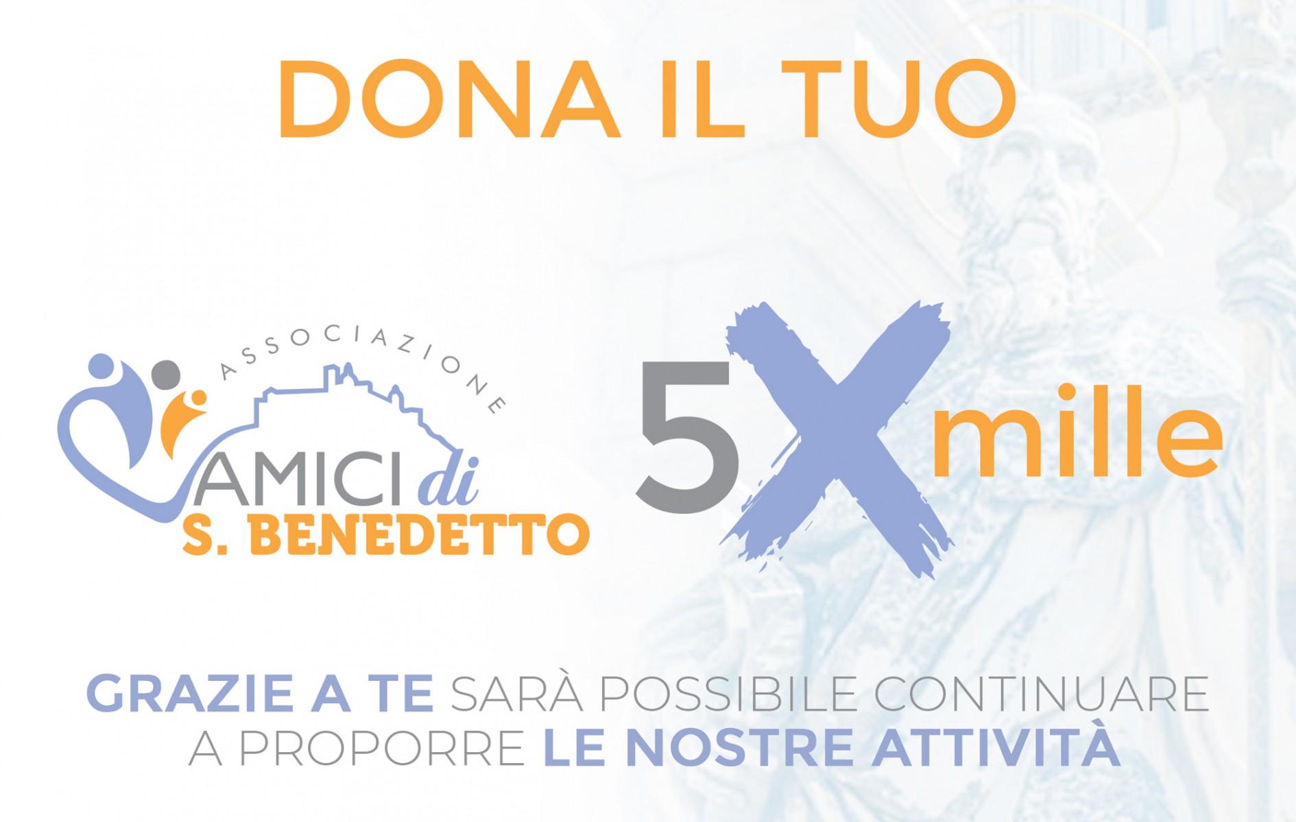 il 5x 1000 all'Associazione Amici di San Benedetto