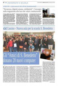 Gli Amici di San Benedetto donano 20 Computer