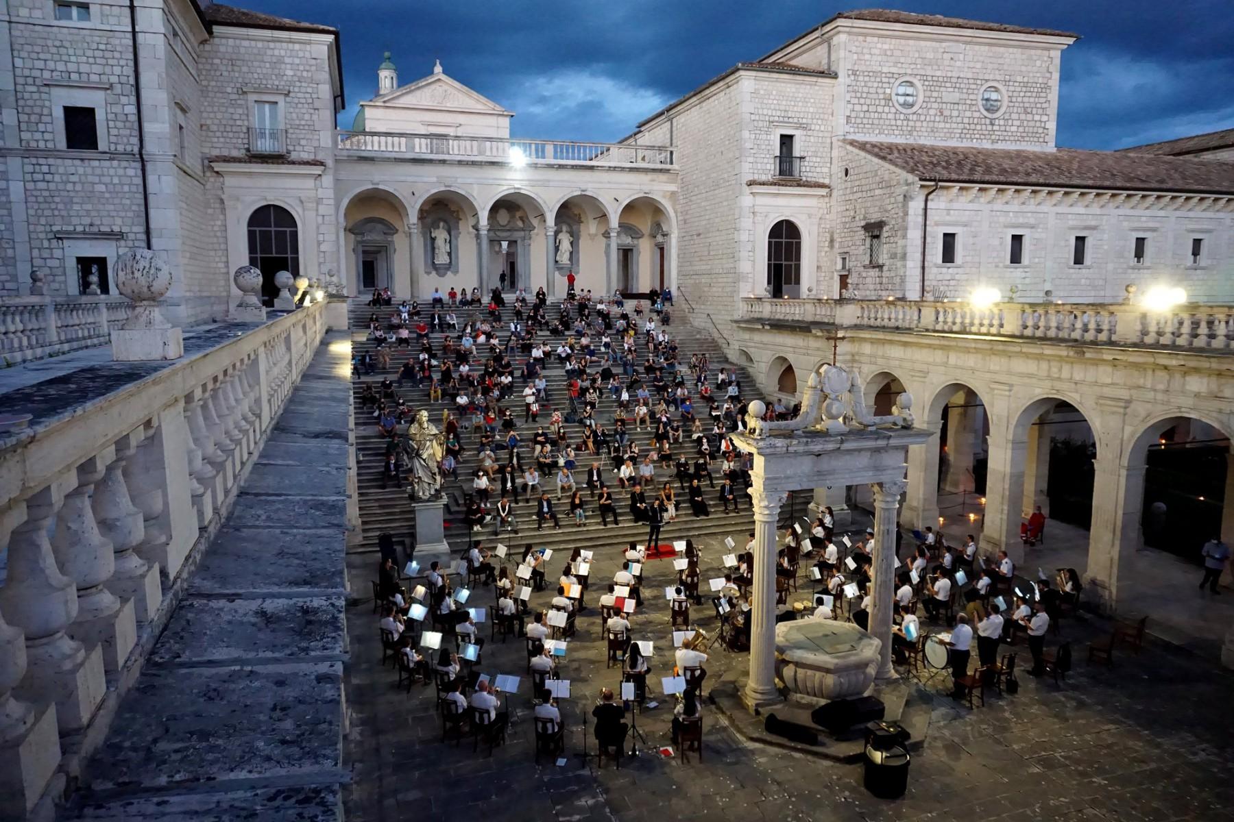 Abbazia di Montecassino – Solennità di San Benedetto Patrono Primario d'Europa e di Cassino – Concerto della Banda Don Bosco Città di Cassino – Le foto