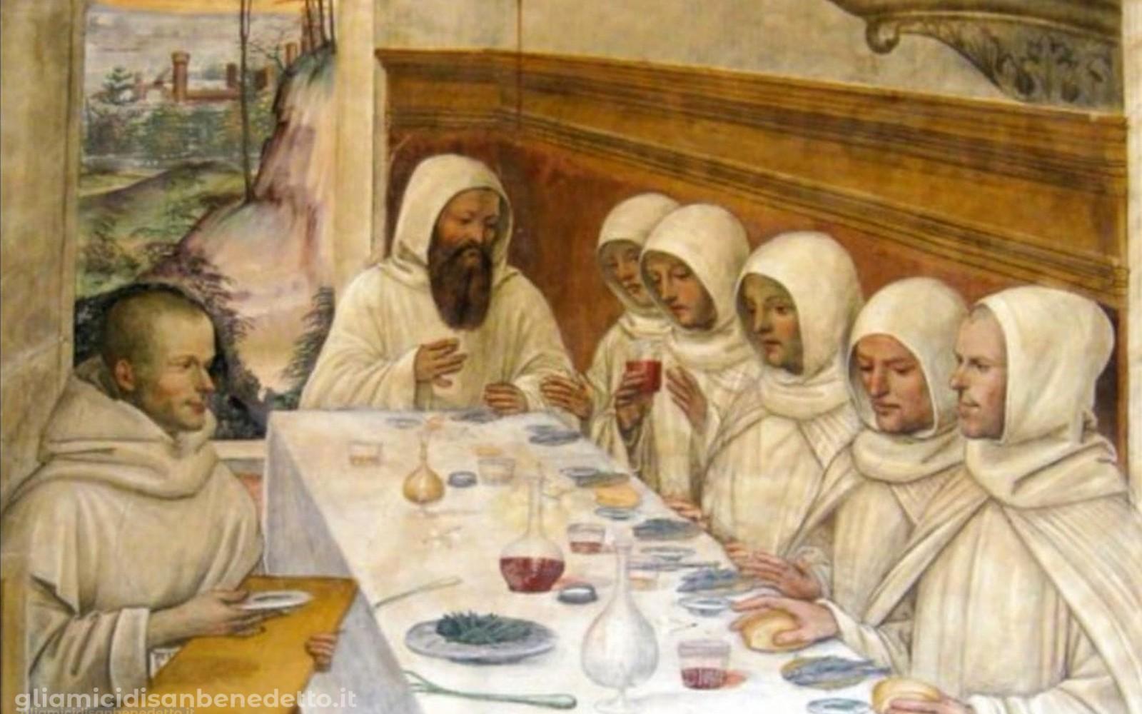 Alimentazione dei monaci nei secoli, da Subiaco a Montecassino