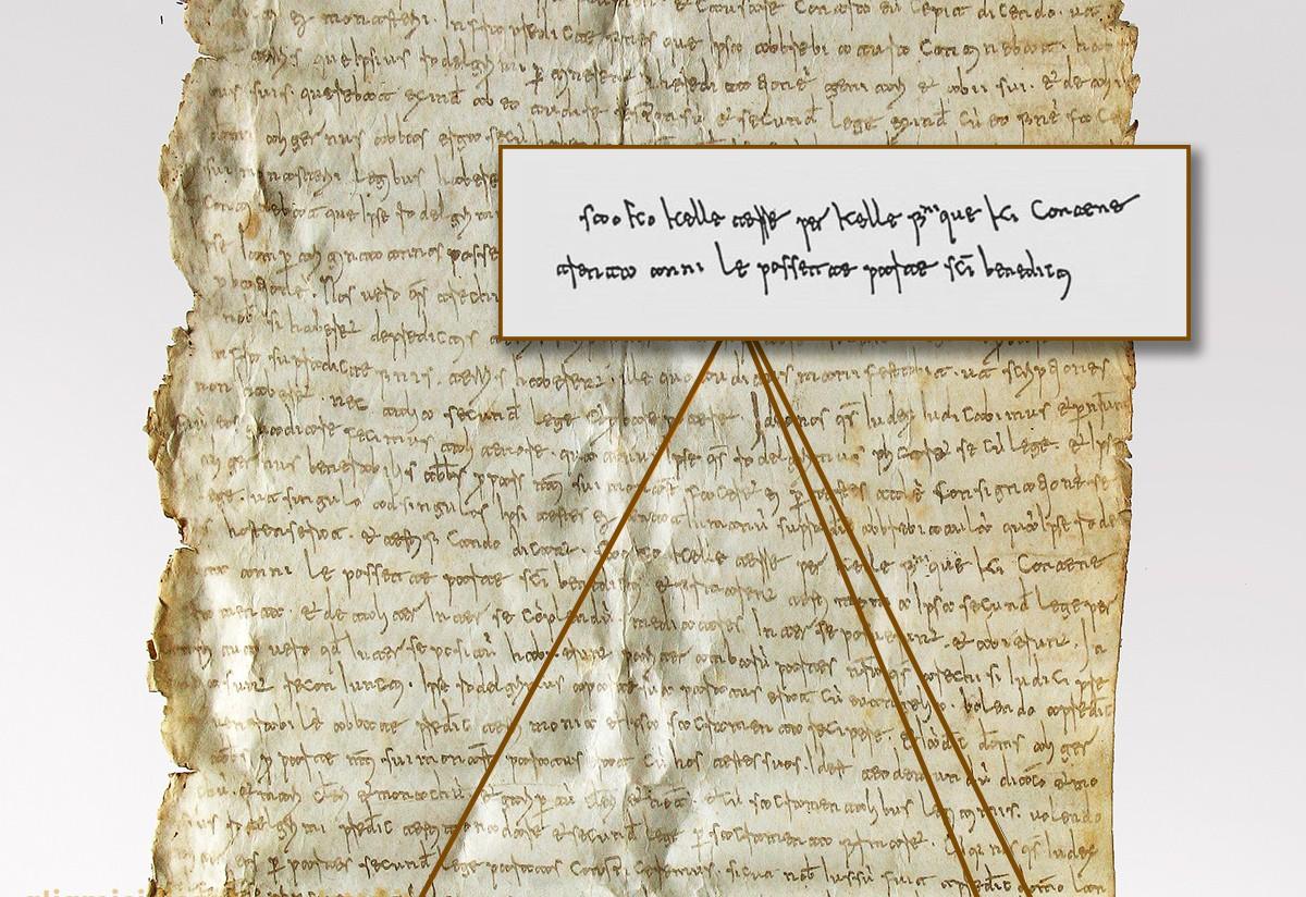 Il Placito Cassinese del marzo 960 d.C.
