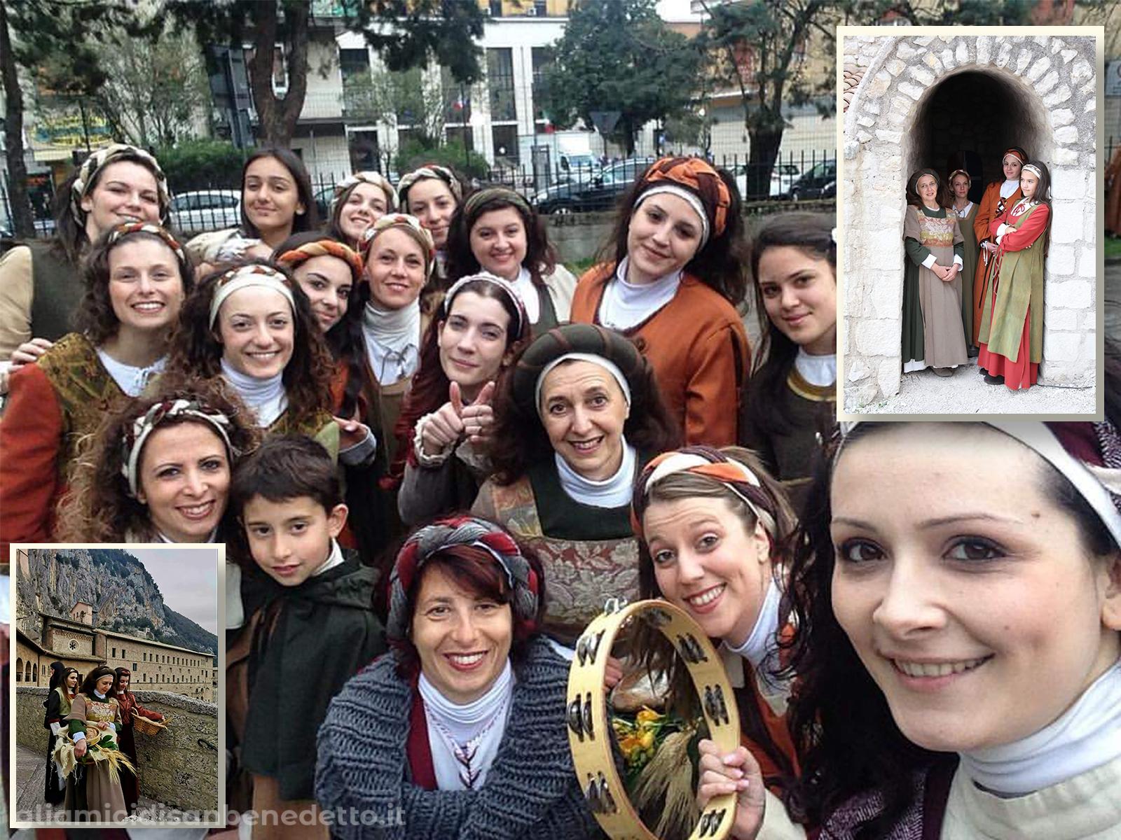 Le popolane del Corteo Storico Terra Sancti Benedicti