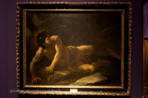 Luca Giordano, San Benedetto nei rovi vince la tentazione. Il racconto di San Gregorio Magno.