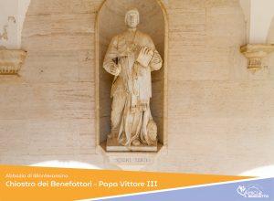 Chiostro dei Benefattori – Papa Vittore III