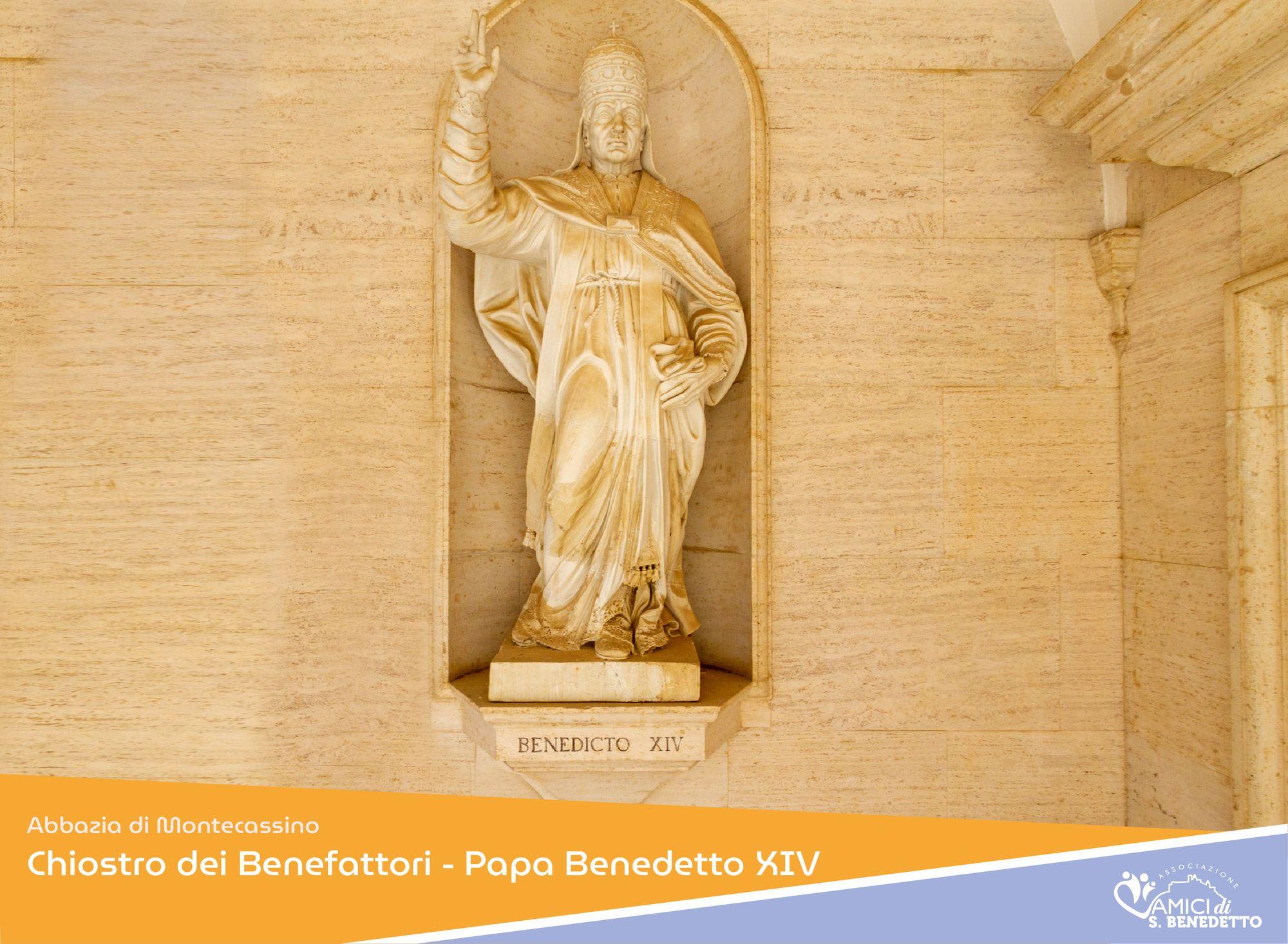 Abbazia di Montecassino – Chiostro dei Benefattori – Papa Benedetto XIV