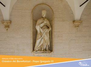 Chiostro dei Benefattori – Papa Gregorio II