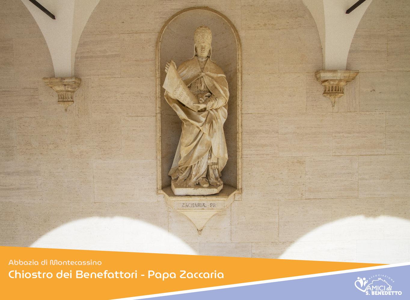 Chiostro dei Benefattori – Papa Zaccaria
