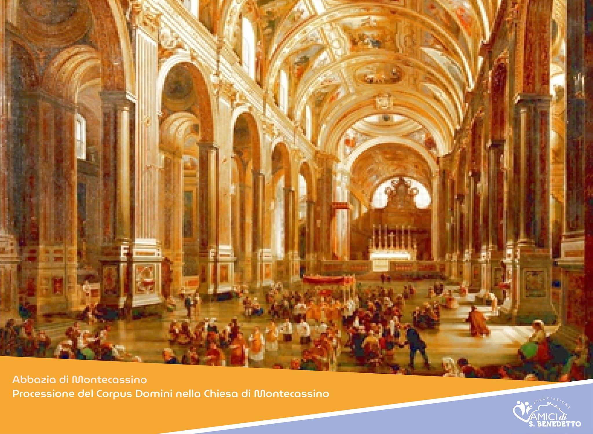 Processione del Corpus Domini nella Chiesa di Montecassino